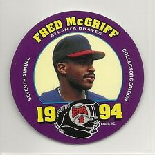 1994 MSA King B - Quality Meat Snacks - Disc - #1 - Fred McGriff - Braves