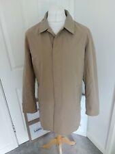 "Men's Harry Brown Beige Long Trench Coat Jacket Size  M PTP 22"" Excellent Cond"