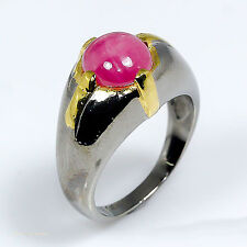 Ruby 0.925 Silver Ring Size 8.25