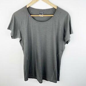 Icebreaker Merino GT Womens Size XL Gray Short Sleeve Tee Top Shirt Wool