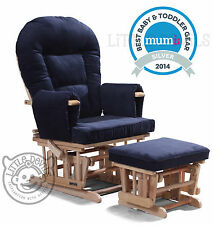 Navy supremo bambino infirmiers planeur rocking chaise inclinable maternité avec tabouret