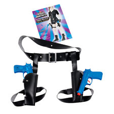 Adult Thigh Twin Gun Holster Set With Toy Weapons Fancy Dress Accessory