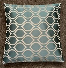 """A CUSHION COVER 16"""" NEW. DUCK EGG BLUE TEARDROP SHAPED PATTERN"""