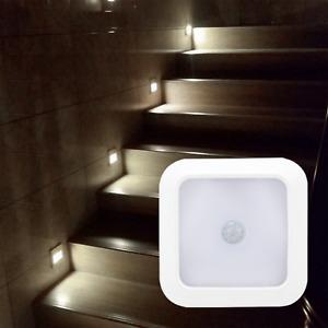 LED Motion Sensor Lights PIR Wireless Night Light Battery Cabinet Stair Lamp