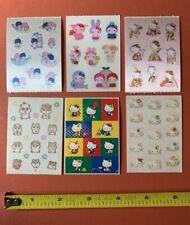 6 Sanrio 2001 Hello Kitty Sticker Modules Twin Stars Satin Prism Glitter Set
