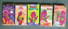 """Barney Lot of 5 VHS - Outer Space~Sense-Sational Day~Alphabet Zoo~ABC's & 123""""s"""
