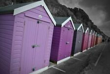 Bournemouth Beach Huts Dorset England Photograph Picture Print