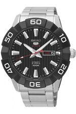 SEIKO 5 Sports Reloj Hombre Automático Día + FECHA FONDO DE CRISTAL srpa55k1
