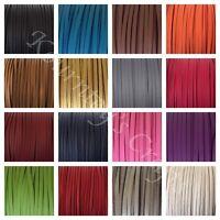 Medium Brown 3.5mm 2311806 5 Yards Genuine Suede Lace
