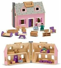 Doll House - Fold and Go With 4 Dolls & Furniture by Melissa & Doug Dollhouse