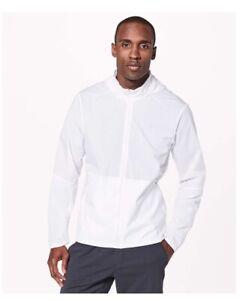 NEW LULULEMON Active Jacket white sizes Medium Large windbreaker NWT