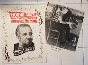 ROCKABILLY 1957 PROGRAM DJ GEORGE HOUND DOG LORENZ JERRY LEE LEWIS EDDIE COCHRAN