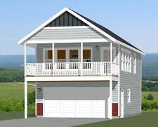 20x32 House -- 1 Bedroom -- 2 Car Garage -- PDF Floor Plan -- Model 6V