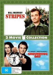 STRIPES (1981) + GROUNDHOG DAY (1993) DVD NEW Region 4 Bill Murray Double Pack