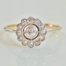Stunning Antique Art Deco 18ct Gold Openwork Diamond Ring c1920; UK Size 'L 1/2'