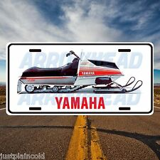 Yamaha snowmobile vintage style licence plate srx