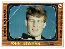1967 Scanlens Geelong No. 14 John Newman Cats card ****