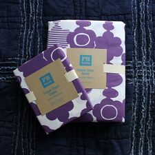 Pottery Barn Teen Flower Chain Duvet Cover pillowcase Dark Plum Twin 3pc