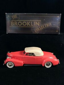 Boxed BROOKLIN BRK14 1940 CADILLAC V16 Convertible Coupe Diecast Model Car 1/43