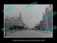 OLD LARGE HISTORIC PHOTO OF PERTH WEST AUSTRALIA, St GEORGES TERRACE c1900