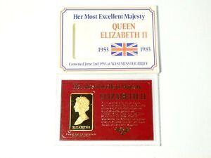 1983 Elizabeth II 30 Year Anniversary Gilt Plaque Medal in Case