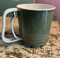 "Vintage Mid-Century Modern MCM Tin Kitchen Baking Sifter 5 1/4"" Tall"