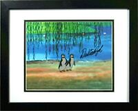 Dick Van Dyke signed Disney cel Mary Poppins 2 Penguin Art Corner Production cel