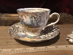 Vintage Colclough Crinoline Series LADY in the GARDEN Teacup & Saucer