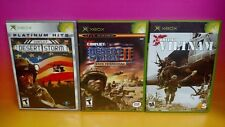 First to Fight, Commandos 2, Prisoner of War - Microsoft Xbox Games Complete