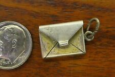 Vintage silver BEAUCRAFT LOVE LETTER NOTE MAIL MOVABLE ENVELOPE OPENS charm RARE
