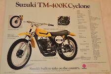 Original 1973 Ts & Tm 400 Suzuki Motorcycle Brochure