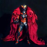 """1/12 Scale Custom Red Wired Robe Cloak for 6"""" Figure BANDAI Shf Ultraman Belial"""
