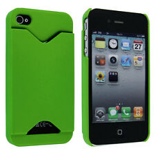 Lime Green Back Cover Case with Credit Card Holder for iPhone 4 / 4S