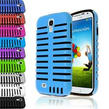 MICROPHONE HYBRID IMPACT PLASTIC CASE SILICONE COVER LTE FOR GALAXY S4 S IV 9500