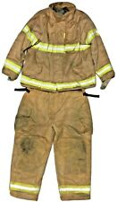 Firefighter Turnout Set Securitex Brown Gold Jacket 58x41 58T Pants 54x32 S77