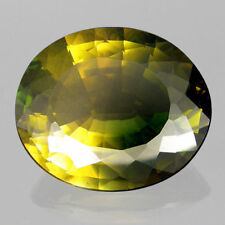 RARE 16x13mm OVAL-FACET YELLOW/GREEN NATURAL BOLIVIAN AMETRINE GEMSTONE