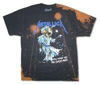 Metallica Doris Splatter All Over Pushead Scales Black T Shirt New Official