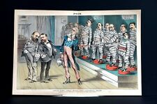 Political Theater 1881 UNCLE SAM HISTORICAL SHOW JAIL PRISONERS TWEED WHISKEY
