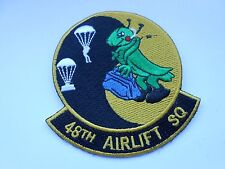 RAF /USAF  aviation squadron cloth patch   48th airlift sq