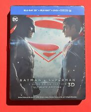 Batman v Superman Steelbook 3D/2D Blu-ray Ultimate French Embossed Edition