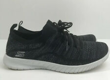 Skechers Ladies Ultra Flex Slip On in Black and Gray Size 7.5