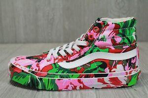 62 Rare VANS x Kenzo Paris OG Sk8-Hi LX Floral Green Shoes VN0A4BVB02H Mens 5