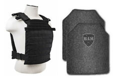 Body Armor | Bullet Proof Vest | AR500 Steel Plates FAST Plate Carrier BLK 11x14