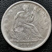 1861 O Seated Liberty Half Dollar CSA Obverse WB-103 Confederate #15258