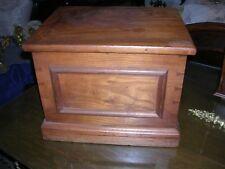 wonderful antique walnut shoe shine box and brushes