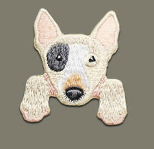 """Bull Terrier Puppy Iron On Patch 1 1/2"""" x 1 1/2"""" Free Shipping by Envelope Mail"""