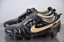 Nike Tiempo R10 Ronaldinho FG Gr. 40 1/2 UK 6,5 Classic Boots BLACK soccer