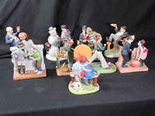 Lot of 11 The 12 Norman Rockwell Porcelain Figurines Large 1980 Excellent Cond