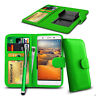 Clip On PU Leather Wallet Case Cover & Pen For Maxwest Astro X4