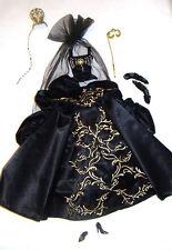 Barbie Fashion Black Ball Gown/Opulent Mask For Model Muse Barbie Dolls fn774